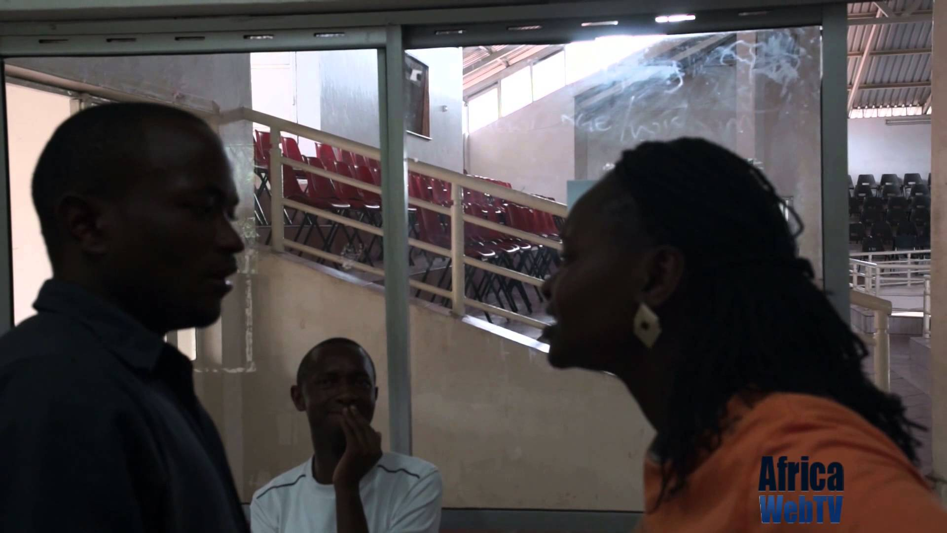 At the rehearsal of Rufus the play (Kenya 2014)