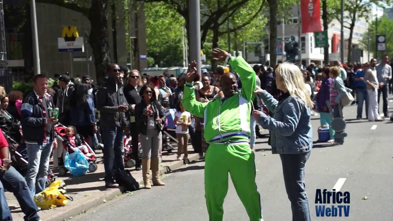 Drunkard at Rotterdam carnival