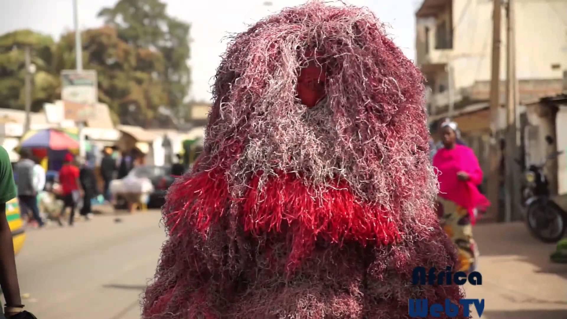 Street masquerade Serekunda, The Gambia