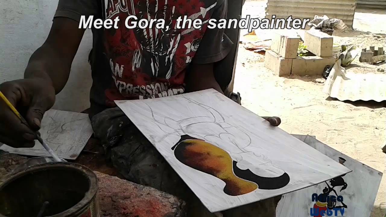 Teaser – Gora the sandpainter; paralysed but walking tall in The Gambia