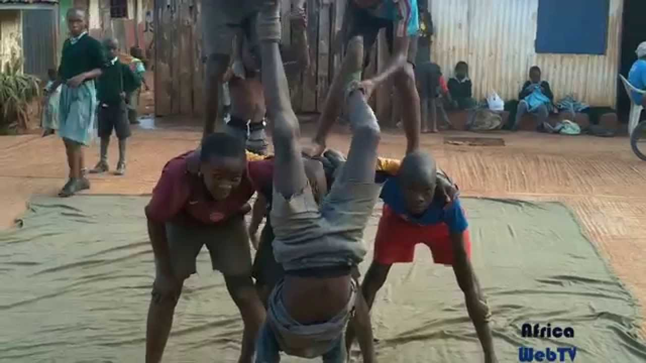 Kids having fun in Kibera