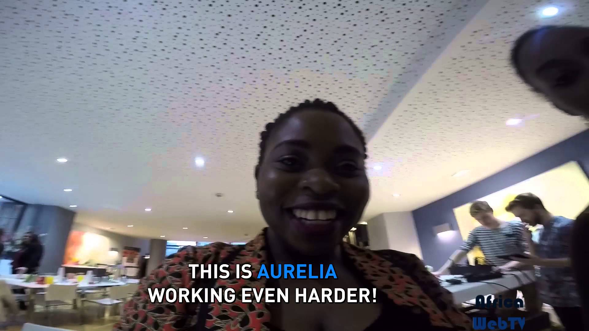 Sometimes we work @ Africa Web TV! Seriously!
