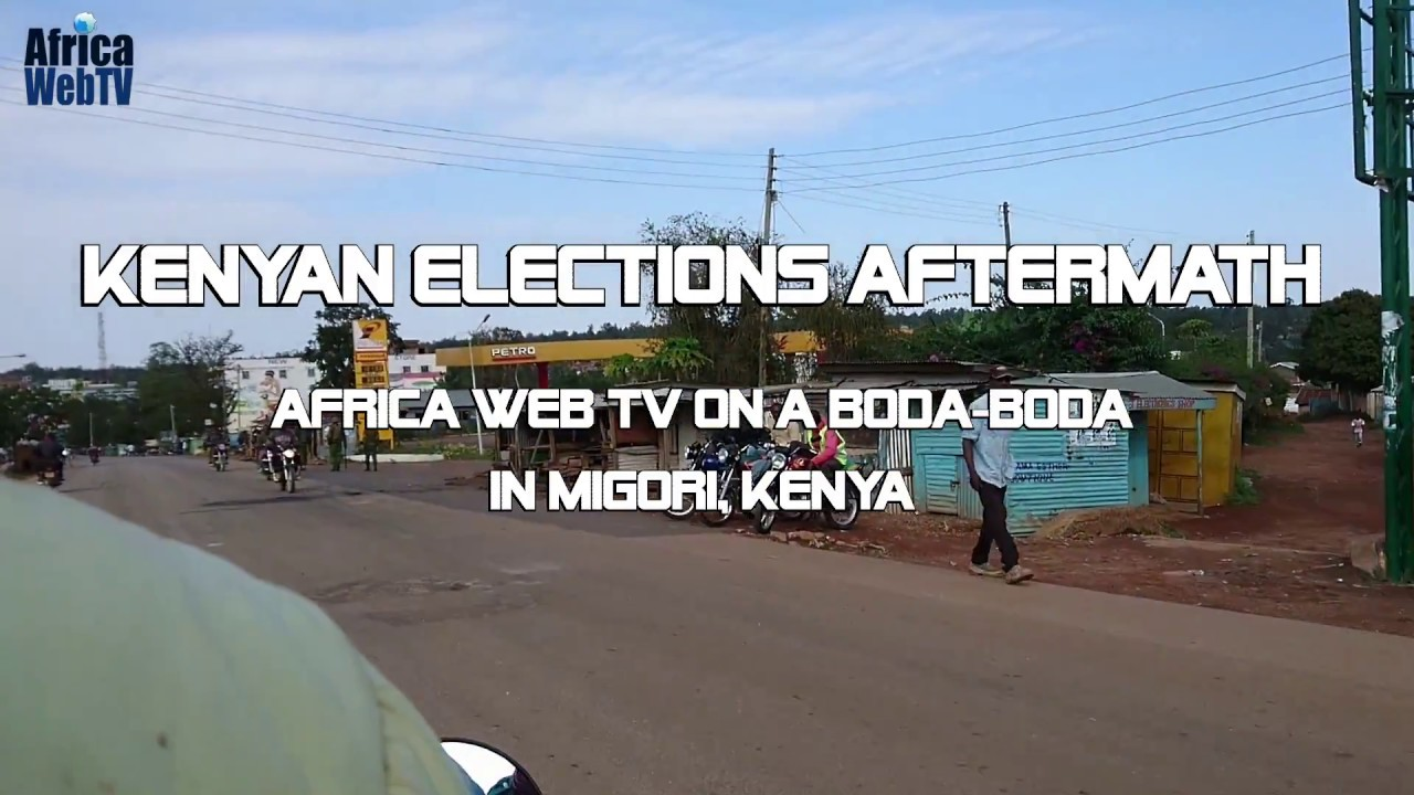 Kenyan elections aftermath – On a boda boda in Migori