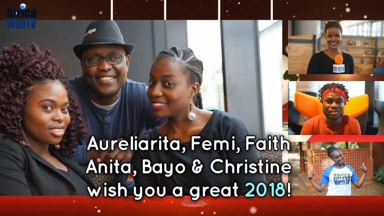 Africa Web TV Crew New Year Greetings 2018