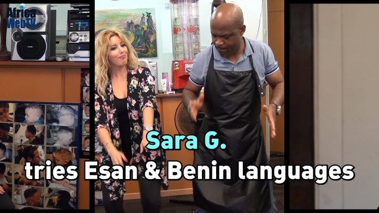 Sara G tries to learn Esan and Benin (Nigerian) Languages