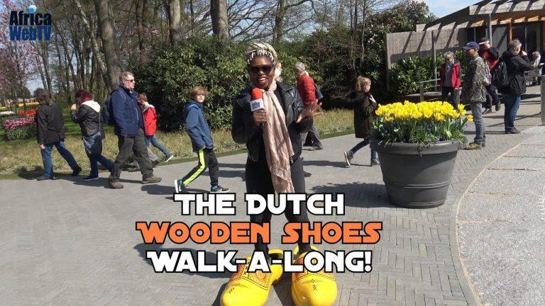 Funny African girl at the Keukenhof Amsterdam
