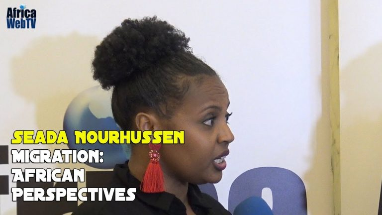 Seada Nourhussen shares her views on migration (Afrikadag 2019)