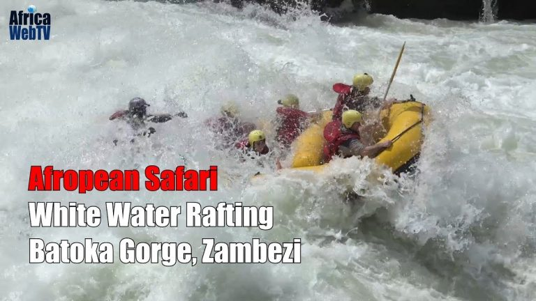White water rafting on The Zambezi in Zambia