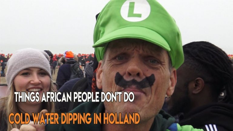 Crazy Things Africans Don't Do – Cold Water Dipping in Holland