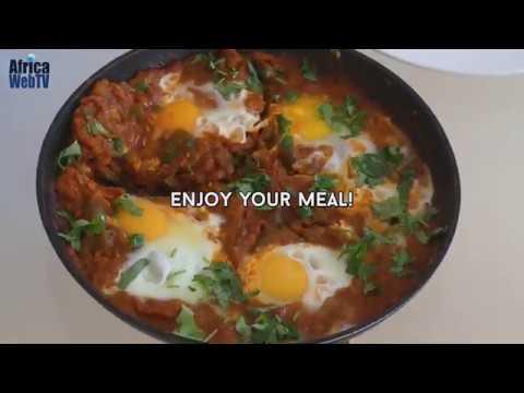 How To Make Shakshuka | Tunisian Breakfast Recipe | Africa Web TV 1-minute Culinary Tips