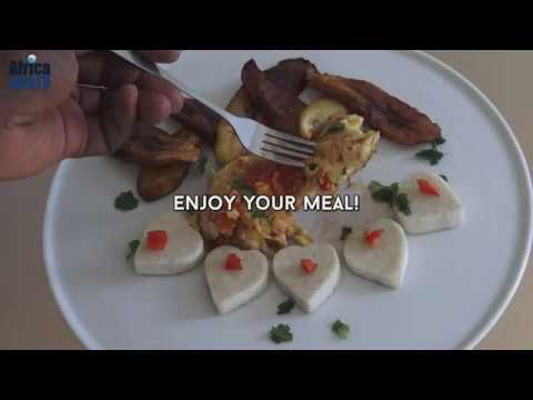 How To Make Yam, Scrambled Eggs & Fried Plantain | Africa Web TV 1-minute Culinary Tips & Recipes